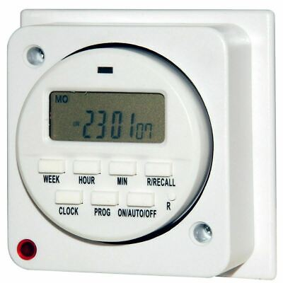 £17.95 • Buy 7 Day General Purpose Immersion Electronic Timer 16 Amps Socket Box Programmer