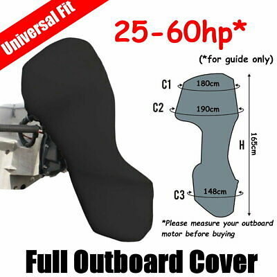 AU53 • Buy 25-60hp Full Outboard Boat Motor Engine Cover Dust Rain Protection Black