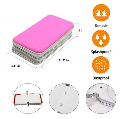 £6.49 • Buy 80 CD DVD Carry Case Disc Storage Holder CD Sleeve Wallet Ideal For In Car PINK