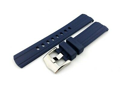 Navy Rubber Silicone Strap Band Fit OMEGA SeaMaster Watch 20mm Buckle+pins/tools • 27.50£