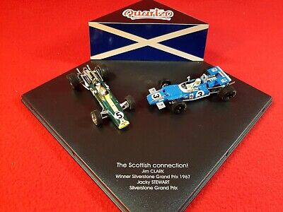 QUARTZO 1:43 Scale Model - The Scottish Connection - Jim Clark / Jackie Stewart • 59.99£