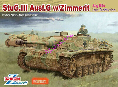 DRAGON 6633 StuG.lll Ausf.G W/Zimmerit July 1944 Late Production 1/35 NEW 2019 • 99.99£