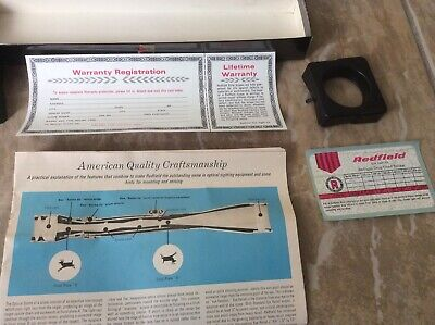 $125 • Buy VINTAGE Redfield Scope 4 Power 4x Rifle Scope 1  Tube CH BOX ONLY 122001