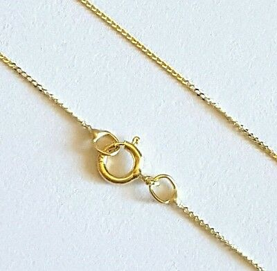 """AU59.99 • Buy 100% Genuine Solid 9ct 9k 375 Yellow Gold 18"""" Chain Necklace"""