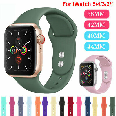 $ CDN4.55 • Buy Sports Silicone Band For Apple Watch Series 5 4 3 2 1 IWatch 38/42/40/44mm Strap