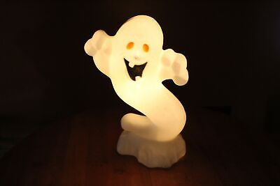 $32.50 • Buy Vintage Lighted Blow Mold Drainage 23  Boo Ghost Halloween Decor Gently Used