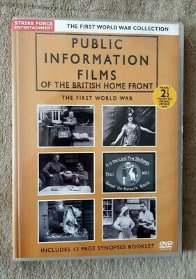 £7.99 • Buy PUBLIC INFORMATION FILMS OF THE BRITISH HOME FRONT The First World War UK R2 DVD
