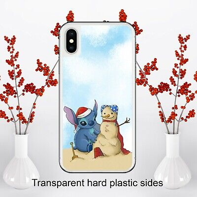 Disney Lilo And Stitch Christmas Case Cover For IPhone Samsung Huawei Google • 4.99£