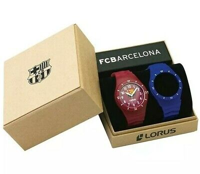 Barcelona Lorus Watch Gift Set Rubber Straps Football  RRX25DX-9  • 16.99£