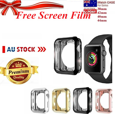 AU8.09 • Buy For Apple Watch 1/2/3/4/5/6 Silicone TPU Bumper Case Cover IWatch 38/42/40/44mm