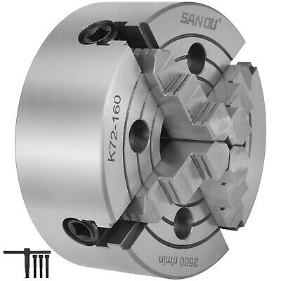AU86.90 • Buy K72-160 6  4 Jaw Lathe Chuck Independent Wood Turning Reversible Front Mounting