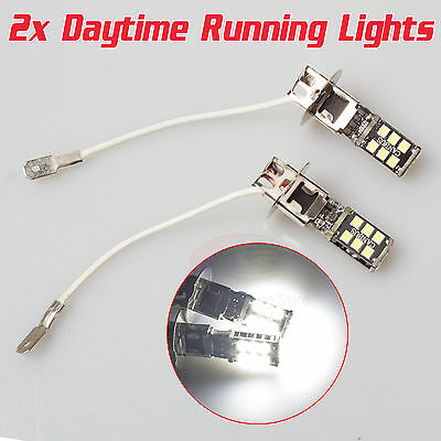 AU16.85 • Buy 2X Super White H3 15-SMD LED Car H3 Fog & Driving 6500K DRL 2835 Light Bulbs OZ