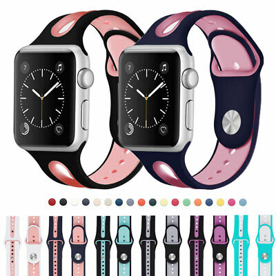 $ CDN5.54 • Buy For Apple Watch Series 5 4 3 2 1 IWatch 38 40 42 44mm Silicone Sports Strap Band