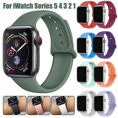 $ CDN5.33 • Buy For Apple Watch Series 5 4 3 2 Sports Silicone Band Strap Bracelet 38 42 40 44mm