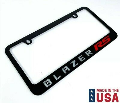$29.95 • Buy Chevy Blazer RS Engraved Black Metal License Plate Frame - Red & Silver Fill
