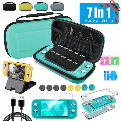 For Nintendo Switch Lite 7in1 Accessories Set Multi Storage Bag+Case Cover+Base • 9.77$