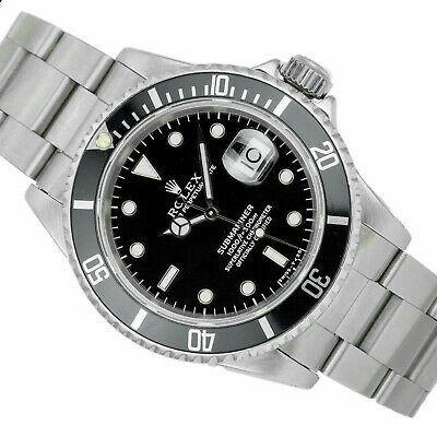 $ CDN12494.40 • Buy Pre-Owned Men's Rolex Watch Factory Steel 40mm Submariner 16610 Black Dial