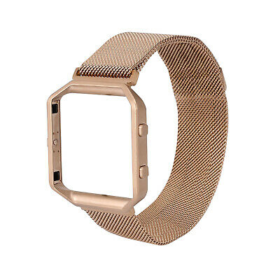 AU20.95 • Buy Milanese Magnetic Stainless Steel Wrist Watch Band Strap +Frame For Fitbit Blaze