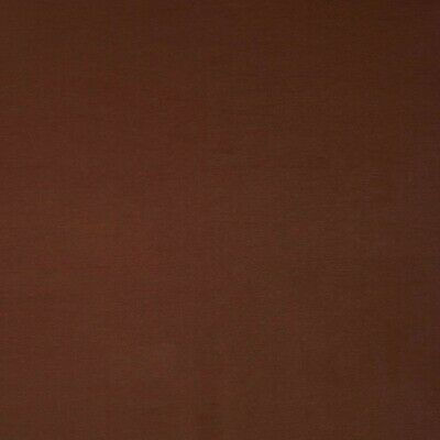 Stretch Leather Look Cotton Blend - Brown - Per Metre • 11.50£