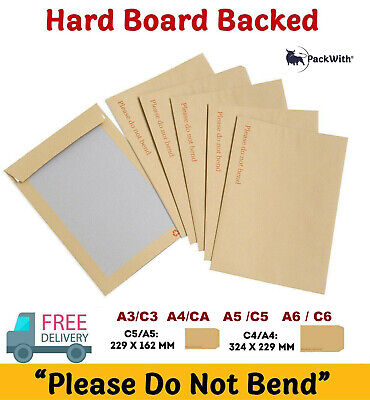 £1.99 • Buy Hard Card Board Backed ' Please Do Not Bend' Manilla Brown Envelopes A3/a4/a5