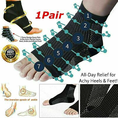 £2.99 • Buy 2x Plantar Fasciitis Compression Socks Heel Foot Arch Pain Relief Support Pair