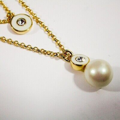 $ CDN55 • Buy Kate Spade Pearly Delight Double Pendant Necklace Gold