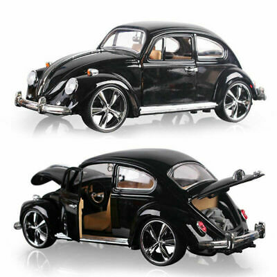 Vintage VW Beetle Superior 1967 1:18 Scale Model Car Diecast Vehicle Gift Black • 25.75£