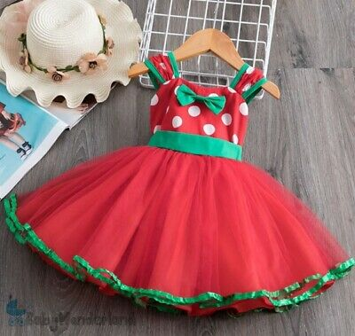 AU24.95 • Buy Baby Girls Christmas Costume Party Fancy Tutu Trapeze Dress Size 0-4Years