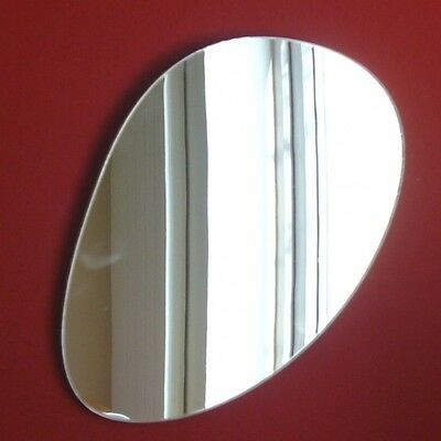 Long Pebble Shaped Mirrors, (Shatterproof Safety Acrylic Mirrors, Several Sizes) • 29.99£