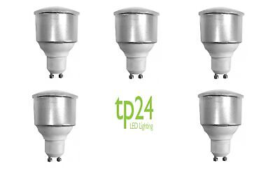 5x Tp24 Tp8722 3.5W GU10 L1 Long Neck Opal Cover LED Light Bulb Warm White • 36£