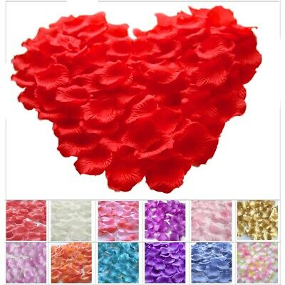 £3.29 • Buy Silk Rose Petals Confetti Flower Engagement Wedding Party Table Bed Decorations