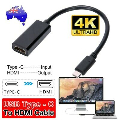 AU11.95 • Buy Type C USB-C To HDMI 4K Adapter Cable Converter For MacBook Samsung ChromeBook
