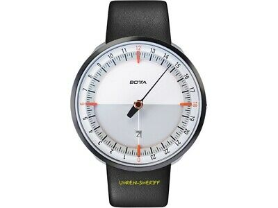 £323.76 • Buy Botta Uno 24 Plus White Orange 24 Hours Designer Watch With A Hand And Date
