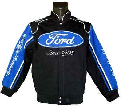 Ford Jacket Mens Twill Cotton Jacket By JH Design EMBROIDERED New • 140£