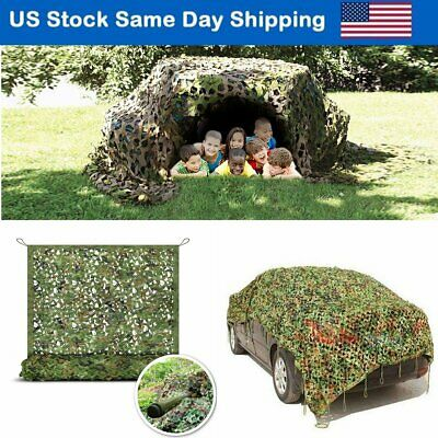 $16.86 • Buy Camo Netting Woodland Military Camouflage Mesh Netting Camping Hunting Car Cover