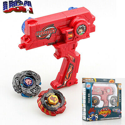 Top Fusion Metal Master Fight Rapidity Rare 4D Beyblade Launcher Set Kid Toy Lot • 8.59$