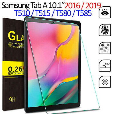 Tempered Glass Screen Protector For Samsung Galaxy Tab A 10.1 T510 T515 T580/585 • 3.95£