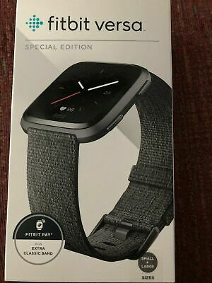$ CDN302.46 • Buy Fitbit Versa Special Edition Smart Watch Charcoal Woven One Size S L Bands