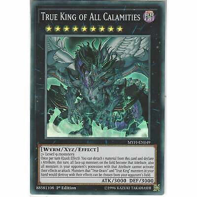 MYFI-EN049 True King Of All Calamities | 1st Edition Super Rare Card YuGiOh TCG • 3.45£