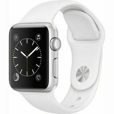 $ CDN155.09 • Buy Apple Watch Series 1 38mm Silver Case - White Sport Band