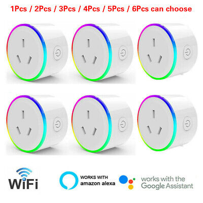 AU139.95 • Buy RGB Smart WiFi AU Plug Remote Switch Power Socket For Amazon Alexa / Google Home