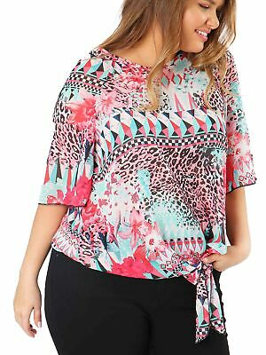Lovedrobe GB Womens Plus Size Aztec Print Tie Front Top • 7£