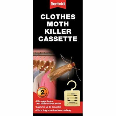 Rentokil Moth Killer Hanging Cassette Units (Twin Pack) Citrus Insecticide FM95 • 3.95£