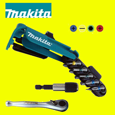 Makita P-79142 Screwdriver Bit Set Colour Coded With Bit Holder And Ratchet 12pc • 14.95£