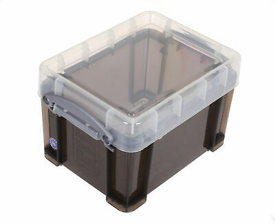 Really Useful Strong,Smoke Coloured ,Plastic 3 Litre CD / DVD  STORAGE BOX • 7.99£