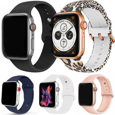 $5.99 • Buy Silicone Band Strap For Apple Watch IWatch Series SE 6 5 4 3 2 1 38/40mm 42/44mm
