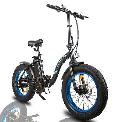 $759 • Buy ECOTRIC 20  500W 12.5Ah Folding Electric Bicycle E-Bike Fat Tire Pedal Assist