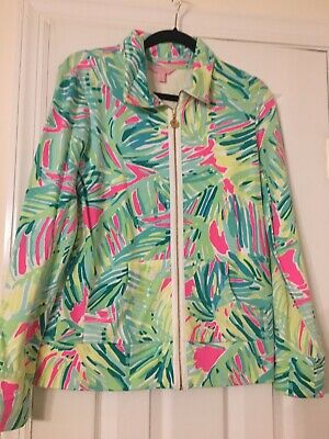 EUC Lilly Pulitzer Tropical Storm Leona Zip Up Size Medium • 38$