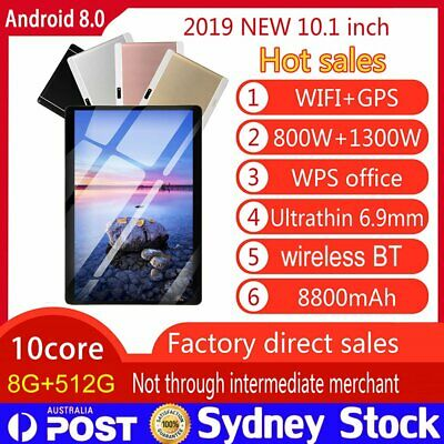 AU105.88 • Buy 10.1  Game Tablet PC 8+512G Android 8.0 Deca Core Dual Camera Wifi GPS Phablet