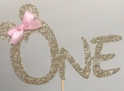 AU17 • Buy Minnie Mouse Inspired One Cake Topper Birthday 1st One 2nd Two Add Any Age